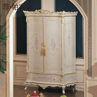 italian furniture bedroom - royalty solid wood handcraft wardrobe   Free shipping