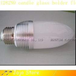 LED CANDLE BULB 3W E14 FLOWER GLASS HOLDER LAMP LIGHT NO:502(China (Mainland))