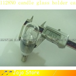 LED CANDLE BULB 6W E14 CANDEL GLASS HOLDER LAMP LIGHT NO:468(China (Mainland))