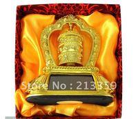 Free Shipping for Well An feng shui prayer wheel solar power Tibetan Buddhism (car decoration)