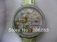 MN1050 HOT MINI watch 3D Secret Garden watch DIY Handmade Genuine Leather Quartz Ladies watch 1pc+free shipping