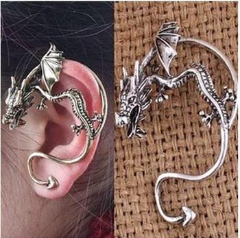 Free shipping (20pcs/lot) Dragon Ear Cuff Earring, Alchemy Gothic Stud Wrap Dragon's Lure Fashion  gold Wrap Ear Cuff