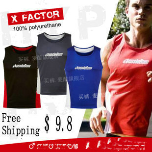 Free Shipping!!! 2013 New fashion Men's Shirt Tank Top Vests,sexy club wear,men sport shirt Black/Blue/Red/Gray S/M/L/XL