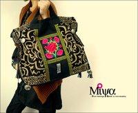 Original Design Thai Style Miya Embroidery Handbags Ethnic  Embroidered Tote/Shoulder Bags Boho Bag