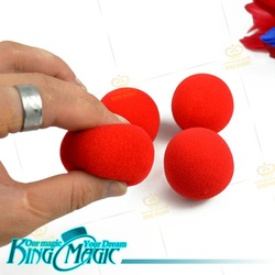 FREE SHIPPING- 4 Sponge Balls -king magic trick/magie/magia-free shipping(China (Mainland))