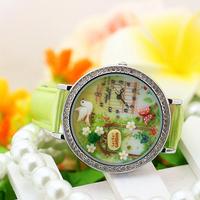 Handmade POLYMER CLAY Korea Mini Diamond Dress Women Watch,Hot Selling - Secret Garden
