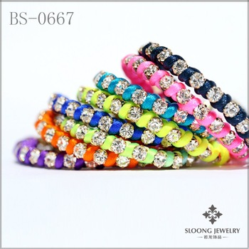 new design colorful crystal bracelets for women friendship bracelets 36pcs/lot -free shipping