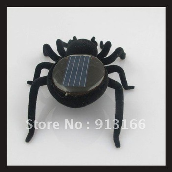 Educational Solar Powered Black Spider Toy Gadget Kids