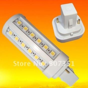free shipping G24(B22/E27) led lights 44led SMD 5050 9W 800lm Warm White 360 degree high brightness 220V 240V warranty 2 years