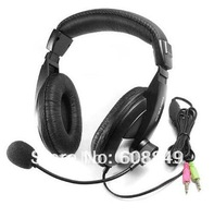 20pcs/lot Computer PC Laptop Stereo Headphone Headset Microphone free shipping