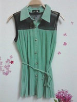 2colors anti-wrinkle chiffon shirt