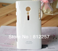 Mobile Phone candy Case for Sony Xperia ion LT28i white+gift screen film dust plug stand