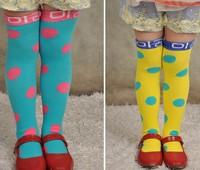 10pairs/lot candy color fashion girl dancing stockings kid  knee high socks children leggings hosiery