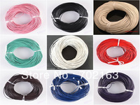 100 Meters Multifunction Real Leather Cord Round Thong Gorgeous Bracelet Necklace Rope Jewelry String Thread 1mm