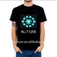 ArcReactor(iron man) t-shirt LED, flashing t-shirt, equalizer t-shirt