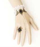 Wholesale fashion wedding jewelry! free shipping Promotion handmade VINTAGE jewelry set gothic lace bracelet MTB22