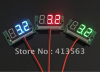 Free Shipping,10pcs/lot, Brand New BLUE Digital Voltage Panel Meter Voltmeter DC 3.0V-30V For 9V 12V 24V car #0002