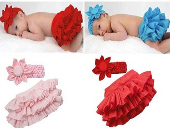 baby girls pettiskirt,toddler 2pcs sets flower headwear+PP pants skirt wholesale 4colors*3size in stock Hot sell
