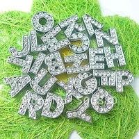 Wholesale - 10mm 260pcs A-Z Slide letters Charm DIY Accessories Fit Pet Collar Wristband