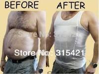 50pcs/lot for men Slimming Vest in color box with S M L XL XXL sizes white or Black color