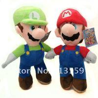 """Free Shipping New Super Mario Bros. Stand MARIO & LUIGI 2 pcs Plush Doll Stuffed Toy 8.5"""" Retail"""