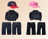 Black Cotton Children Sets 2012 New Autumn Sports Children Wear Hot Sellers Freeshipping Boys And Girls Sets