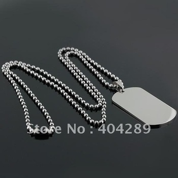 Wholesale 12pcs Super No Engraving 316L Stainless Steel Dog Tag Pendant Necklace,Men's Jewelry,Free Shipping