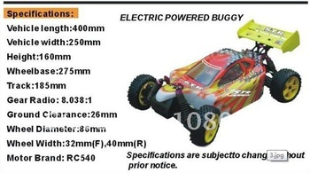 by china psot air parcel!  1:10 Brushless rc car Electric Offroad R/C car, Upgrade version HSP 94107 Pro W/parts+2.4GFS-GT2