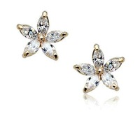 Серьги-клипсы Retail & Italina Rose gold plated high quality W shape Austria Crystal clip earrings silver/rose gold