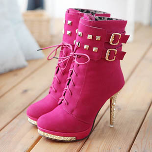 new 2014 fashion sexy knight ladies high heels platform ankle boots women boots and woman autumn winter shoes #Y1003518F