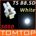 T5 B8.5D 5050 SMD Car LED Indicator Light Gauge Speedo Dashboard Side Interior Lamp Bulb,100pcs/lot,free shipping Wholesale