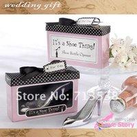 2013 Wholesale Hot Elegant Wedding Bridal favors 6PCS/LOT Factory directly sale It's a Shoe Thing Shoe Bottle Opener Favors