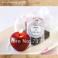 Free shipping wedding favor mini red apple Candles,Decorative Candles ,candle party gifts,favor gifts,baby part gifts