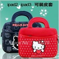 Free Shipping for Handbag HelloKitty soft Sleeve Case Bag For XOOM Asus TF101 Ipad 2 Ipad 3 Ipad
