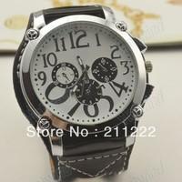 New Arrival wholesale Fashion Quartz Wrist Watch Brand watch Leather watchband free shipping