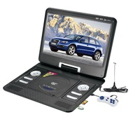 14.8 Inches Portable DVD Player LED Screen With Car Charger ,Remote Control, Joystick , Game Disc , TV Antenna , Adapter
