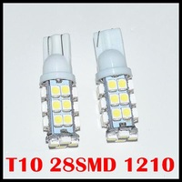 2014 Real Wholesale 50pcs/lot 194 168 T10 28 Smd 3020 1206 Led Car Lighting 28smd 3528  Signal Indicator Lights Whtie 12v