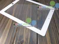Replacement Glass Panel Touch Screen Digitizer + Free Adhesive For iPad 3 Free dhl SHIPPING