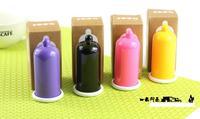 400pcs/ctn wholesale Plastic condom toothpick holder toothpick tube condom shaped Toothpick dispenser Box multi colors mixed