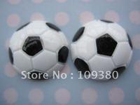 20pcs/lot, Flat back resin football