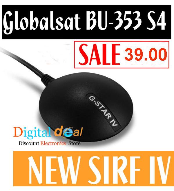 GlobalSat BU-353S4 USB GPS Receiver SiRF S