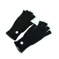 New Fashion LED Rave Light Finger Lighting Flashing Glow Gloves Novelty Item Free Drop Shipping Wholesale   901088-A-0003