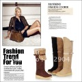 Factory Price2012New Style Women Fashion over the knee boots,Lady Cheap Slip-On Buckle matting shoes,snow long boots,Wholesale
