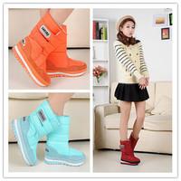 2014 Popular Snow Boots For Women Flat Heel 7 Colors Plus Size Winter Boots Waterproof