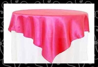 Free shipping satin  table overlay-table cover-table cloth #10