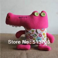 Crocodile #L Doll Hold Pillow Handmade Muppet Toy Figurine Cloth Art Decoration