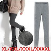 free shipping 2014 fashion extra plus size elastic cotton blends women warm winter leggings XL XXL XXXL XXXXXLsize