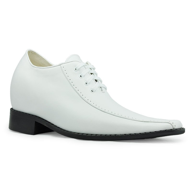 Popular Mens White Leather Dress Shoes Buy Cheap