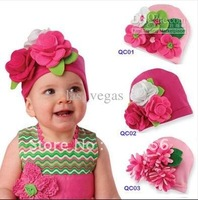 NEW designs baby hats baby cute hats kids cap Babyamour flower knitted cap infant hats