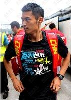 lin dan Champion badminton T-shirt:2012 London Olympics Commemorate T-shirt,Limited Edition 1000 Pieces,li-ning AHSG721